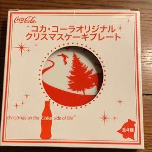 Japan 2007 Coca Cola small Christmas Plate Coke